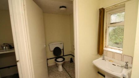 The toilet and kitchen inside the former church hall in the Helmingham Estate will get a complete ma