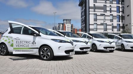 Transport East is hoping to boost the number of electric vehicles on the road. Picture: IPSWICH BOROUGH COUNCIL