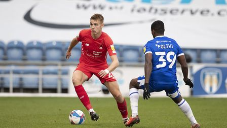Hector Kyprianou, Leyton Orient closed down by Michael Folivi, Colchester United during Colchester U