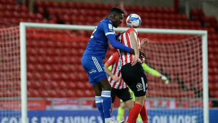 Toto Nsiala battles at Sunderland Picture Pagepix Ltd
