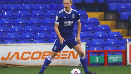 Luke Woolfenden in action during the Blues' 1-0 win over Crewe Picture: ROSS HALLS