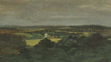 The undiscovered John Constable painting of Dedham Vale. Picture: SWORDERS