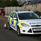 Police at the scene of the incident in Holton Picture: CHARLOTTE BOND