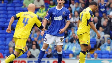 Where it all started: Tommy Smith on his Ipswich Towm debut against Preston North End in August, 200