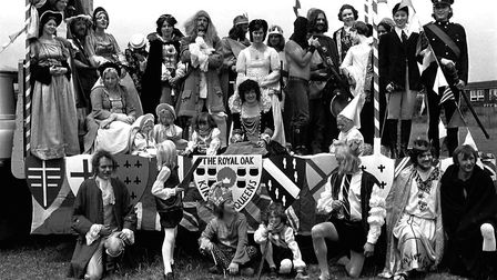 One of the floats at Sudbury Carnival in 1974 Picture: ARCHANT
