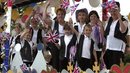 Freeman Community Primary School's float in the Stowmarket carnival procession in 2002 Picture: JO