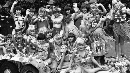 South Seas smiles from these children taking part in Leiston Gala in 1982 Picture: ARCHANT