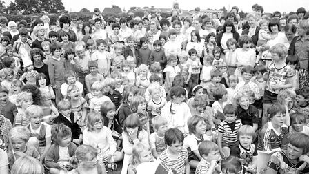 Children watching the entertainment at Leiston Gala in 1978 Picture: ARCHANT