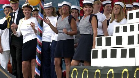 The MIB Line Dance club float at Stowmarket Carnival in 2002 Picture: JOHN KERR/ARCHANT