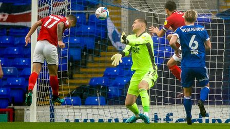 Ipswich keeper Tomas Holy makes a close-range save in the 1-0 home win against Crewe - a game Town r