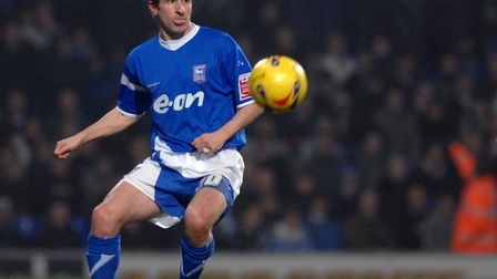 David Wright, always composed during his days at Ipswich Town, especially at right-back. Picture: AS