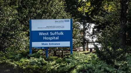 The accident took place outside West Suffolk Hospital in Bury St Edmunds Picture: SARAH LUCY BROWN