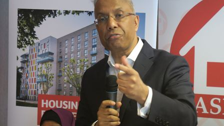 Lutfur Rahman, now campaigning to retain office of mayor in 2021, launching his Aspire party's manif