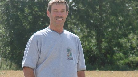 Farmer Brian Hull pictured in a wheat field Picture: THE HULL FAMILY