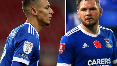 Strikers Kayden Jackson and James Norwood are back in the mix for Ipswich Town. Picture: PAGEPIX/ROS