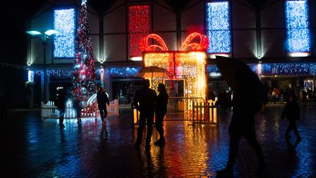 `The festive season has officially arrived in Bury St Edmunds with the switching on of the Christmas Lights. Picture...