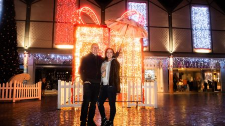 Patrick Foshee and Marina Martinez came to see the lights come on. Picture: SARAH LUCY BROWN