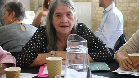 Social care and integrated health lead Cllr Maureen Worby (pictured here at a meeting before the coronavirus pandemic).