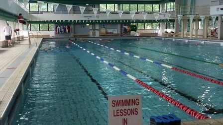 St George's Olympic-standard swimming pool now shut where children once learned to swim. Picture: Jo