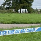 Forensic teams carried out investigations at the scene in Sudbury after human remains were found in the River Stour Picture: ...