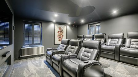 A cinema room has been built at the rear of the house Picture: STRUTT & PARKER