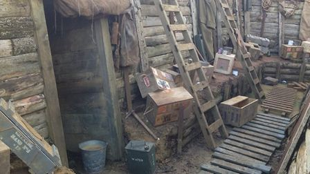 The trenches at Akenham. Picture: TAFF GILLINGHAM