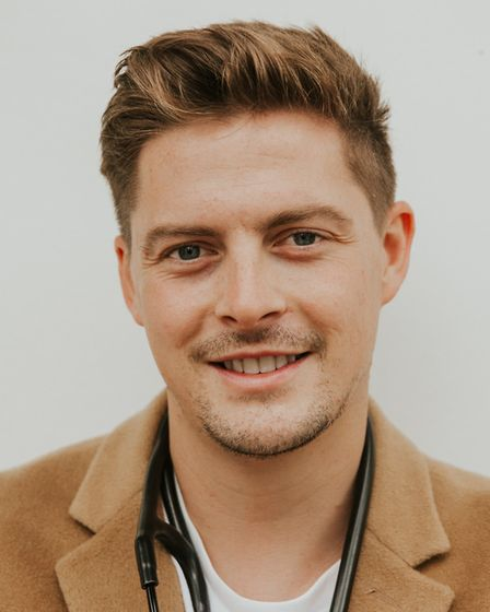 Former Love Island star Dr Alex George gave a talk on mental health awareness at the West Suffolk Co