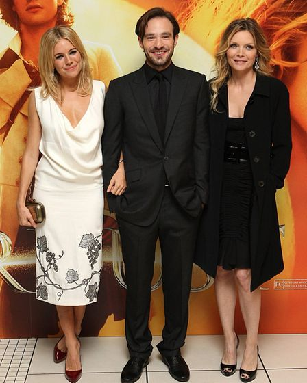 (left-right) Sienna Miller, Charlie Cox and Michelle Pfeiffer arrive for the European premiere of St