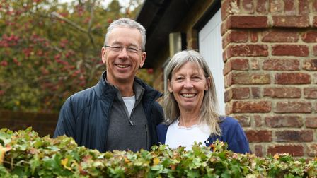 Alan and Christine Collett rescue injured swifts and help release them Picture: CHARLOTTE BOND
