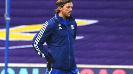 Emyr Huws has started three league games and two cup games so far fowr Ipswich Town this season. Pho