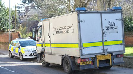 A bomb disposal unit was called to the scene of an unexploded grenade in Colchester (file photo) Pic