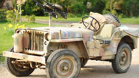A 1942 Willys Jeep owned by military vehicle enthusiast Paul Lincoln. Picture: Ian Burt