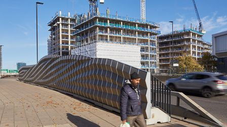 The noise-absorbing barrier on the A12 outside Bromley-by-Bow Underground station could be tried in other parts of the...