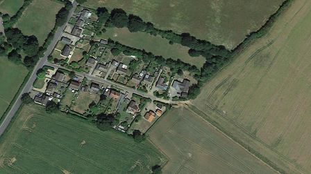 The homes are set to be built in Elmswell Picture: GOOGLE EARTH