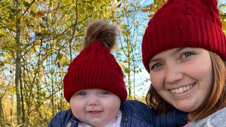 New mum Jessica Cable-Davey with her daughter Scarlett, who are unable to attend baby classes together Picture: JESSICA...