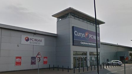 Thieves stole laptops from the Currys store in Clacton Picture: GOOGLE MAPS