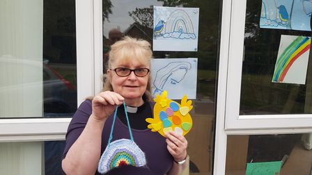 The Rev Annette Shannon has undertaken various community projects during lockdown Picture: DIOCESE OF ST EDMUNDSBURY AND...