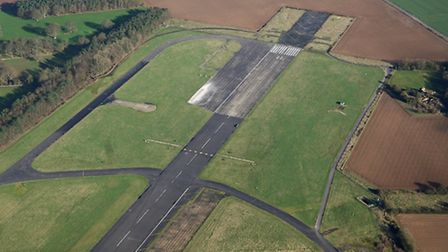 The ends of Coltishall runway which are earmarked for ripping up to make into rubble. Picture: MIKE