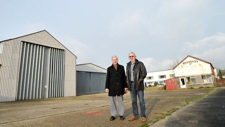 Bob Merrett and Malcolm Hodd at the former Whisstocks boatyard site in Woodbridge which is set to undergo an £8m...