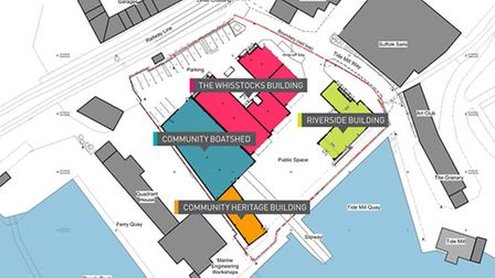 A plan for the Whisstocks site in Woodbridge.