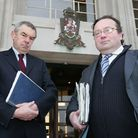 Ken Jones and Cllr Phil Waker outside Civic Centre