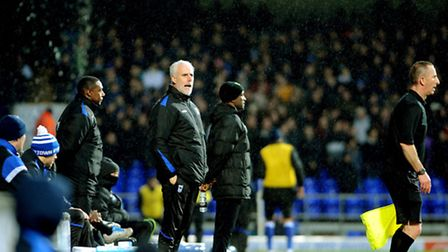Mick McCarthy on the touchline today