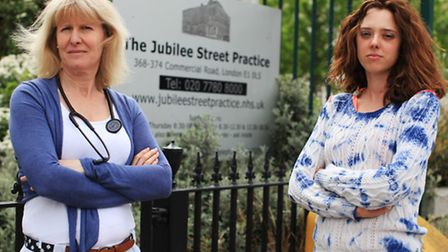 Dr Naomi Beer, left, and Practice Manager Virginia Patania at the Jubilee Street Practice.