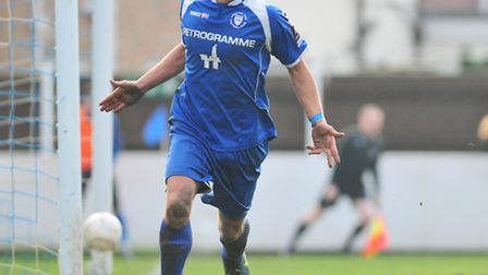 Lowestoft Town's Jake Reed. Picture: Nick Butcher.
