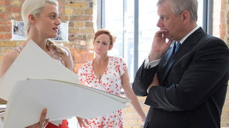 Prince Andrew meets Fish Island Lab artists