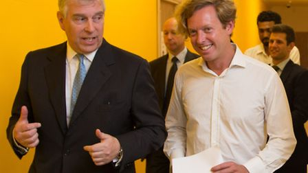 Prince Andrew tours labs