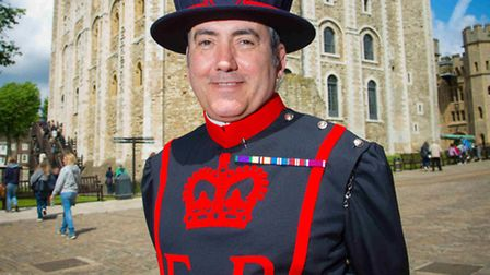 John Donald... newest recruit to beefeaters at The Tower