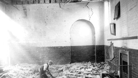 The aftermath of the bombing (Picture: Tower Hamlets Council)