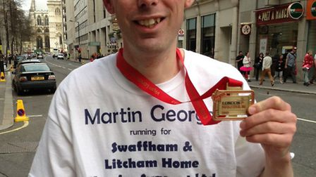 Reporter Martin George finished the race in six hours.