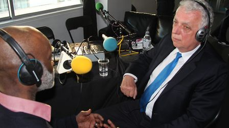 Erlam on BBC London at Bethnal Green's Rich Mix centre after his High Court victory